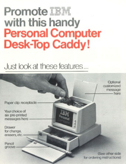 Picture of Array's First Significant Order in 1982 - A Personal Computer Desktop Caddy