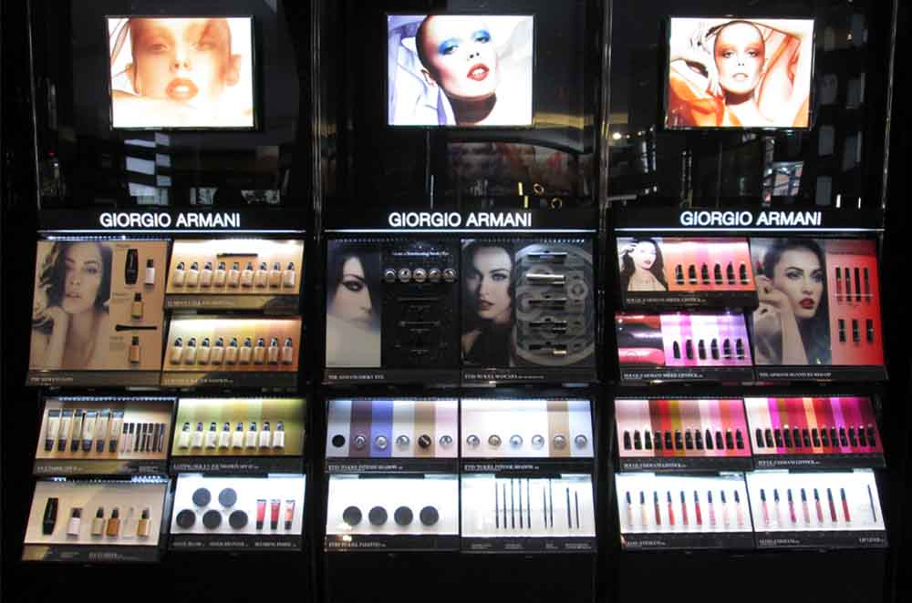 Drawer Systems for Makeup Display With Giorgio Amerani Brand on It - Created for Sephora