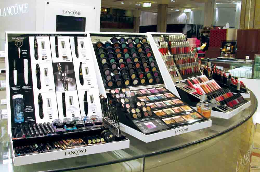 Makeup and Cosmetics Display for Lancome